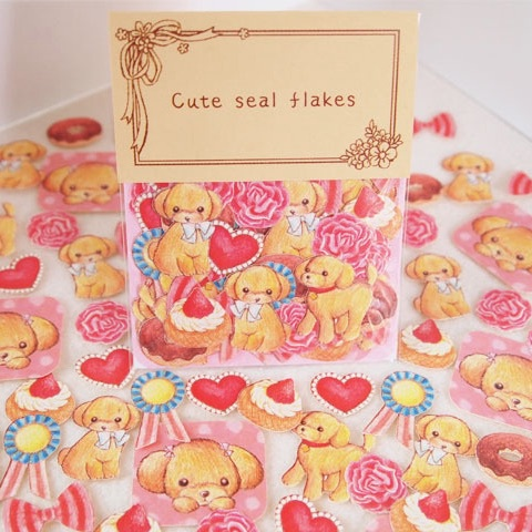 Cute Seal Flakes Dog Unicorn 70pcs Diary Deco Scrapbooking Stickers Decorative Sticker Set DIY Diary Photo Album Party Decals