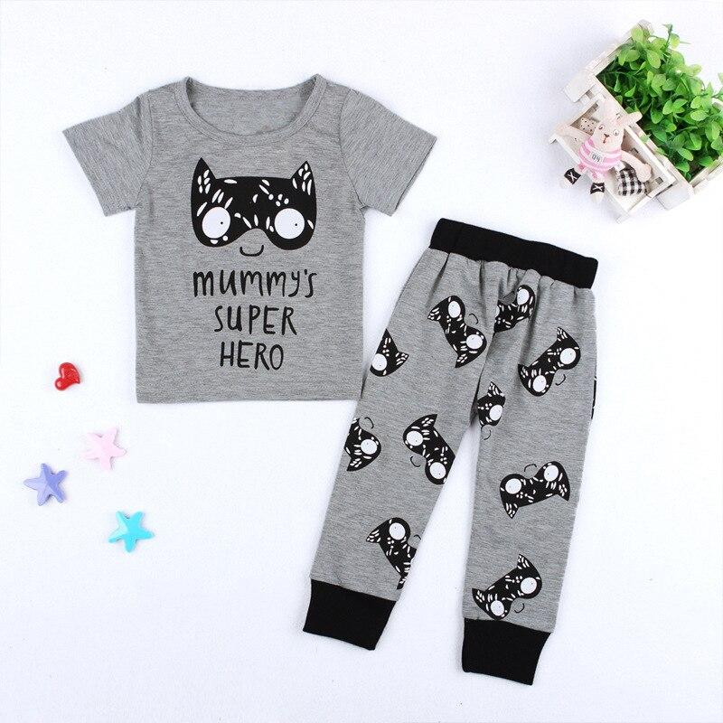 Одежда для маленьких мальчиков и девочек комплект футболка штаны, 2 предмета маленькие м ...