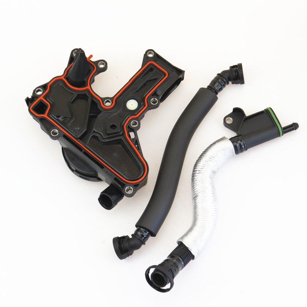 FHAWKEYEQ PCV ensemble de soupape séparateur d'huile tuyau respiratoire ensemble pour VW Jetta Eos Passat Tiguan Golf Scirocco A3 A4 Q5 06 H 103 495B