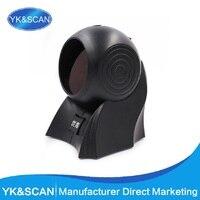 2D QR 1D Presentation Scanner USB Desktop Scanner Omni Black Distinct Scanner Omnidirectional Barcode Scanner