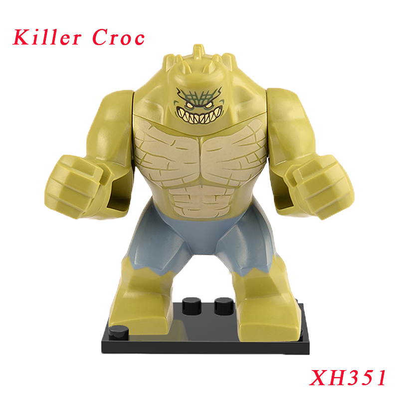Single Sale Killer Croc Figure Super Heroes Batman Movie Suicide Squad Brick XH351 Building Blocks Toys For Children iris pattern protective plastic back case for iphone 3g white