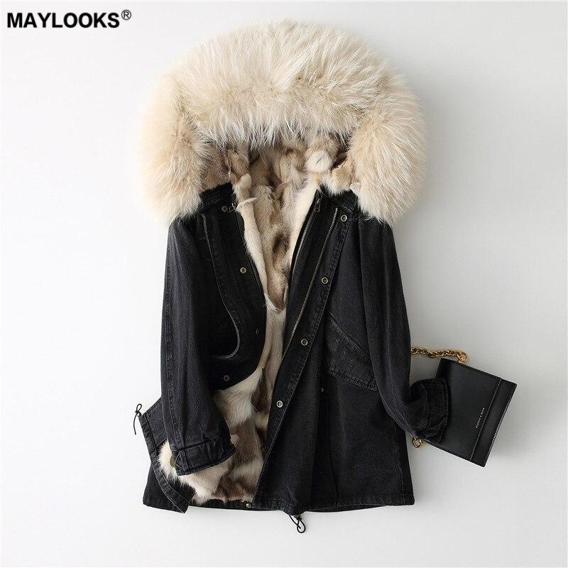 Gehorsam Maylooks 2018 Neue Mode Pelz Mantel 68661 Schnelle WäRmeableitung Jacken & Mäntel