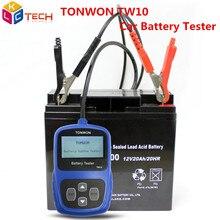 A+ TONWON TW10 анализатор тестер для батарей диагностический инструмент Универсальный 12 V автомобильный тестер нагрузки аккумулятора автоматическое устройство для измерения напряжения батареи транспортного средства