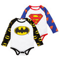 2017 New Born Baby Clothes Batman Newborn Baby Boy Clothes Cotton Baby Rompers Long Sleeve Bebe Superman Overalls For Children