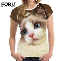 FORUDESIGNS-Lovely-Ragdoll-Cat-Print-Breathable-Female-Tops-Shirt-2018-Summer-Fitness-Clothing-Shirts-for-Girls-Ladies-Tee-Shirt-2