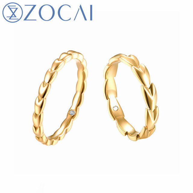 Zocai New Design Wedding Couple Rings 0 01 Ct Natural Diamond Women