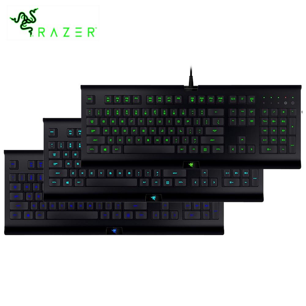 лучшая цена Original Razer Cynosa Pro Backlit Membrane Gaming Keyboard Wired Fully Programmable Keys Macro Recording Enable Synapse Keyboard