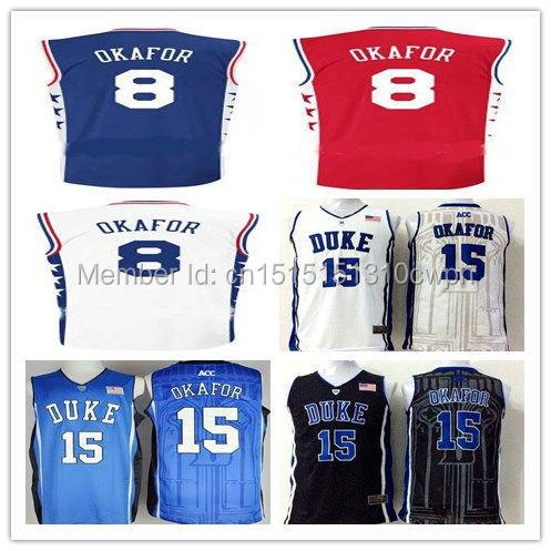 28bc615fcf3f 2015 Draft Pick 8 Jahlil Okafor Jerseys College Duke Blue Devils Shirt  Stitched Red Blue Black White Stitched Logo Free shipping
