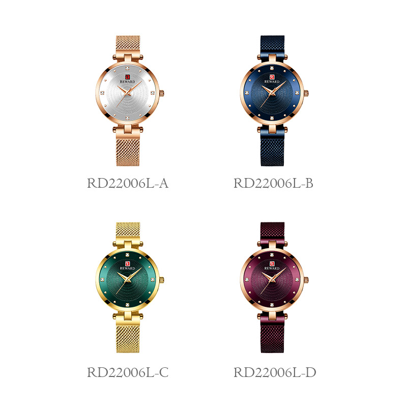 Image 5 - 2019 REWARD Watch Women Luxury Fashion Casual Waterproof Quartz Watches Sport Clock Ladies Elegant Wrist watch Girl Montre Femme-in Women's Watches from Watches