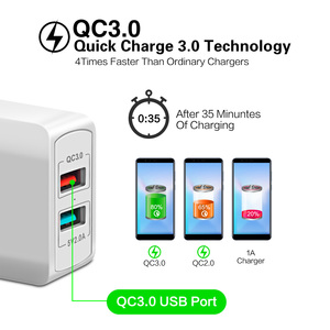 Image 2 - FONKEN Dual USB Charger 28W Quick Charge 3.0 QC3.0 Fast Phone Charger 2 Port Portable Wall Charger Adapter Android Mobile Tablet