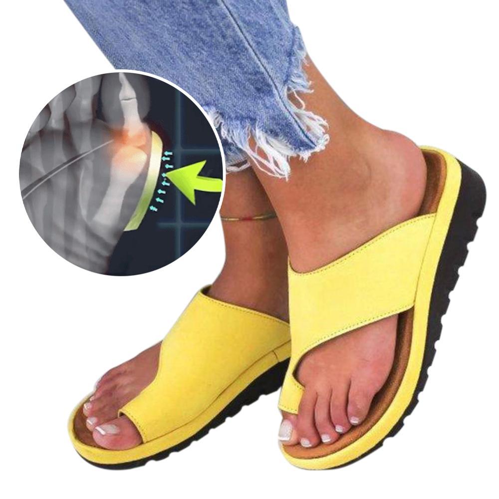 Oeak Women Slippers Orthopedic Bunion Corrector Sandals Torridity Wedges Shoes Women  Flops Casual Flat Shoes Plus Size 35-43