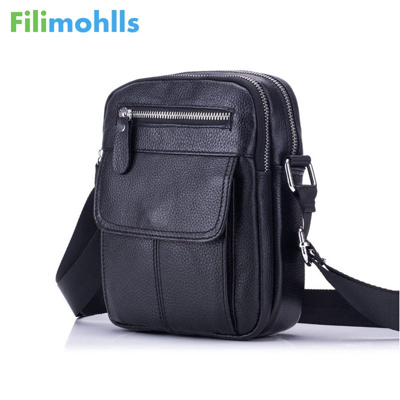 2018 Genuine Leather Bag Men Messenger Bags Men's Crossbody Bag Small sacoche homme Satchel Man Satchels Shoulder Bags S1175 genuine leather studded satchel bag women s 2016 saffiano cute small metal rivet trapeze shoulder crossbody bag handbag