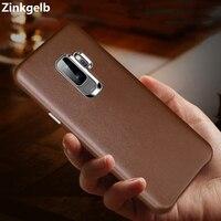 לסמסונג גלקסי S9 בתוספת אמיתי רך יוקרה Case כיסוי מקרה טלפון שריון עמיד הלם עור לסמסונג S9 כיסוי אחורי Hoesje
