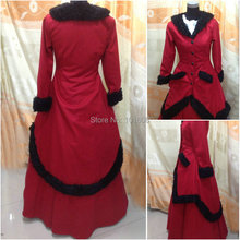 1860S Victorian Corset Gothic/Civil War Southern Belle Ball Gown Dress Halloween dresses  CUSTOM MADE XS-023