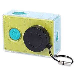Image 4 - Verrückte Verkauf Schutzhülle Haut Für Xiaomi YI Action Kamera Accesorios Transparent Schutzhülle Mit Objektiv Kappe Für Xiao Yi