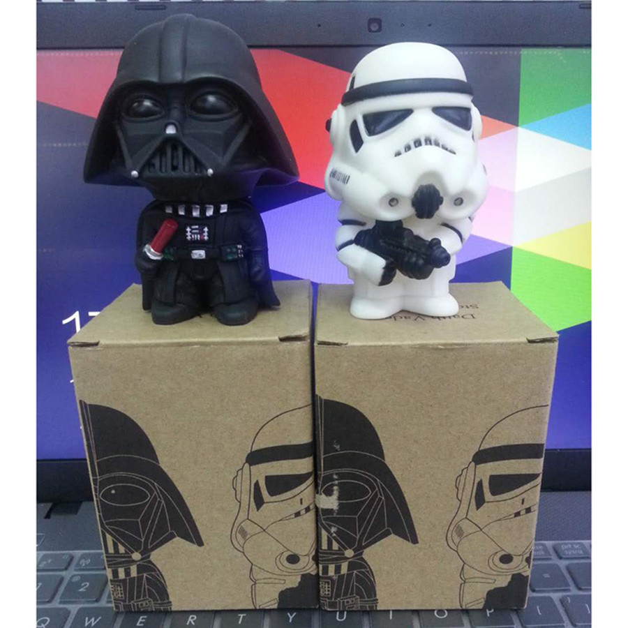 12pcs/lot 10cm Star Wars figure toys Darth Vade clone trooper Figures Toy Model for collection gifts with box packing