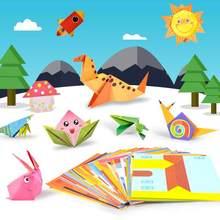 54 шт. детские 3D бумажные игрушки/Детские Мультяшные животные бумажные складные DIY Развивающие игрушки для детского сада