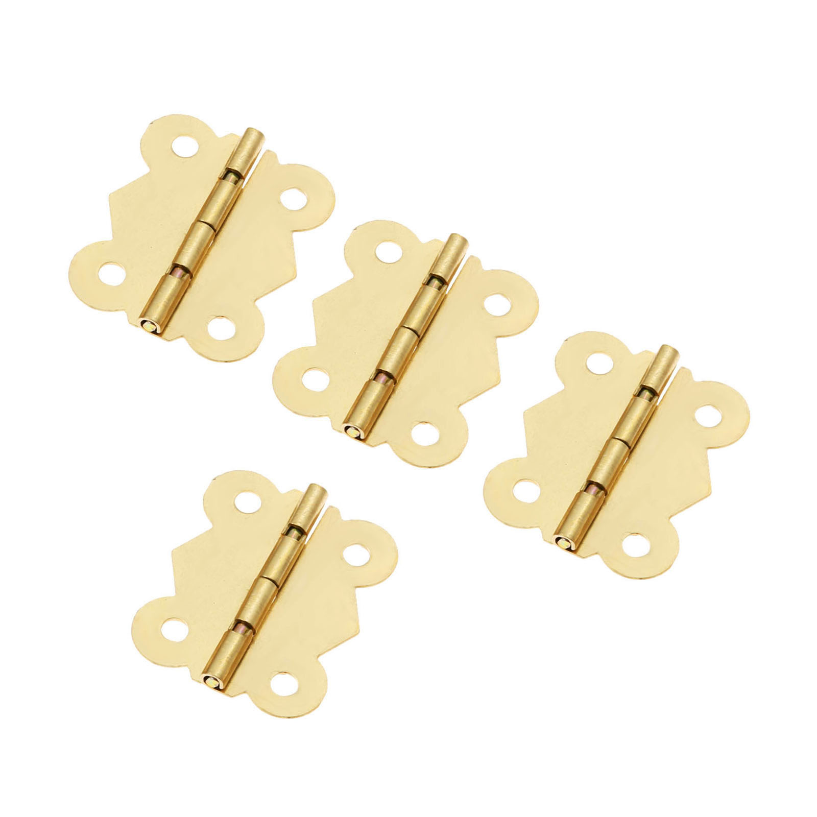 4Pcs 40x33mm Butterfly Door Furniture Hinge 4 Holes Cabinet Drawer Jewelry Box Decorative Hinge Furniture Hardware with Screws in Cabinet Hinges from Home Improvement