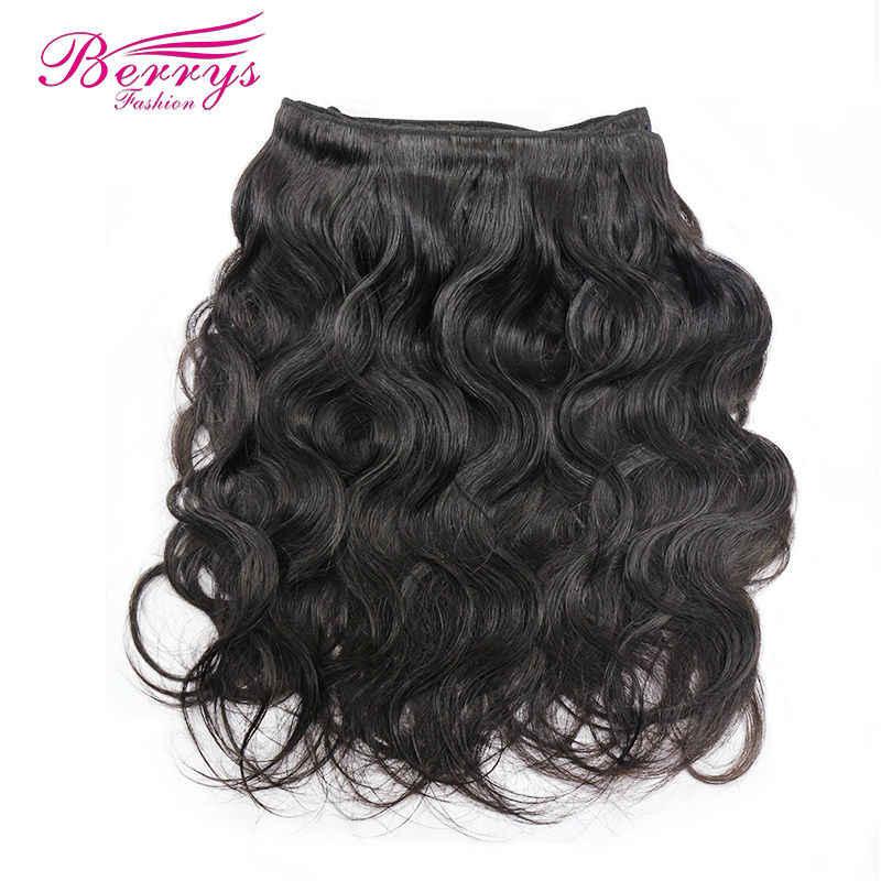 Berrys Mode 4 Bundles Peruanische Körper welle 10A Reine Haarwebart Natur 1B 100% Menschliches Haar Verlängerung 10-28 zoll Freies Verschiffen
