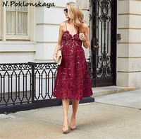 AS107 Autumn New 2016 Womens LADY Heavy Lace Dress Long SEXY FASHION HIGH QUALITY BEACH