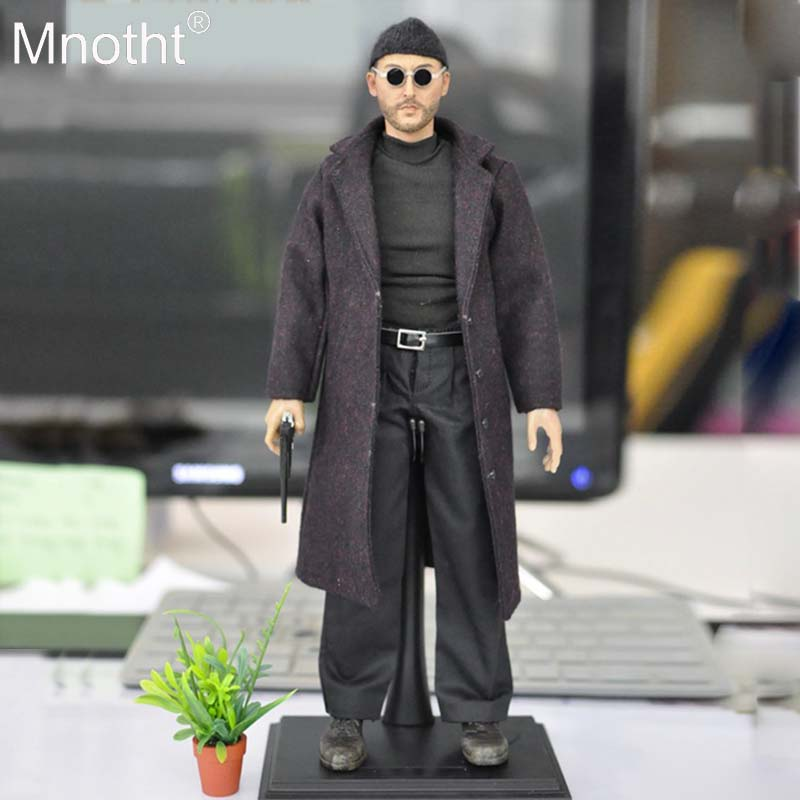 Mnotht 1:6 Leon The Professional Jean Reno Full Set Action Figure Model Toys KMF038 for 12in Soldier Collections Gift  m3nMnotht 1:6 Leon The Professional Jean Reno Full Set Action Figure Model Toys KMF038 for 12in Soldier Collections Gift  m3n