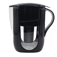 Household Straight Drink Filtered Tap Water Kettle Filter 1 Pitcher for Water Filters Carbon for Brita Filter Black