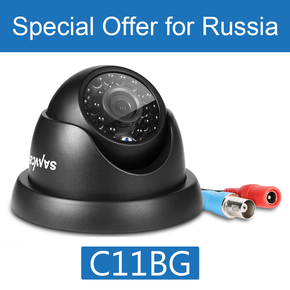 Special Offer for Russia : SANNCE TVI HD 720P CCTV Camera Dome Bullet IR Cut Filter 24 IR Day/Night Vision Home Surveillance Cam 4 in 1 ir high speed dome camera ahd tvi cvi cvbs 1080p output ir night vision 150m ptz dome camera with wiper