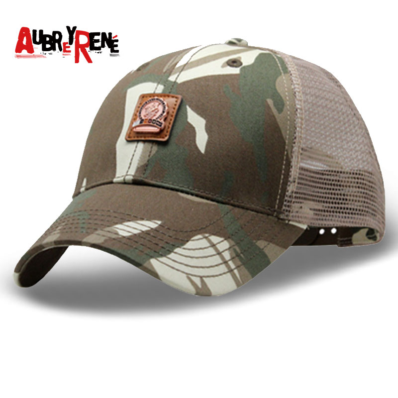 AUBREYRENE Hip Hop Caps Spring Summer Men Women Camouflage Cap Snapback Bone Mesh Baseball Cap Sunscreen Hats Outdoors Camo Hats feitong summer baseball cap for men women embroidered mesh hats gorras hombre hats casual hip hop caps dad casquette trucker hat