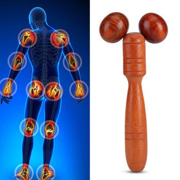 Mahogany Red Wood Roller Spa Therapy Thai Wooden Massager Stick Thin Face Leg Head Neck Body Face-lift Wheel Hand Massage Tools