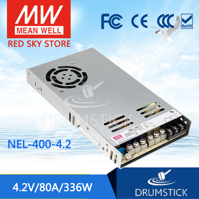все цены на  100% Original MEAN WELL NEL-400-4.2 4.2V 80A meanwell NEL-400 4.2V 336W Single Output Switching Power Supply  онлайн