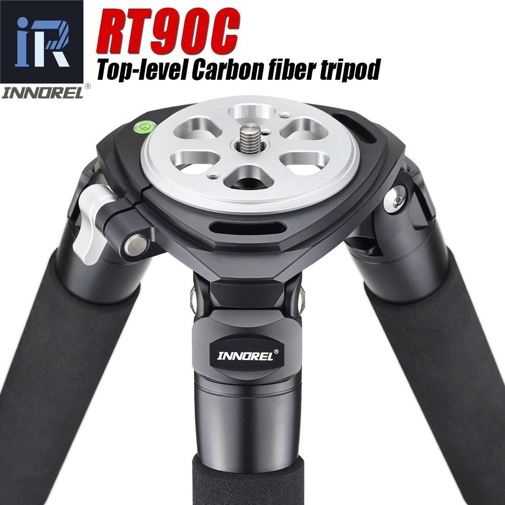 Trípode profesional de fibra de carbono de clase insignia RT90C soporte de alta resistencia 40mm diseño de brida hueca 40kg de carga-in Trípodes from Productos electrónicos    1