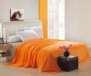 Image 5 - Мягкие фланелевые покрывала CAMMITEVER для дома, однотонные супертеплые покрывала для дивана/кровати/путешествий, пледы, покрывала, простыни