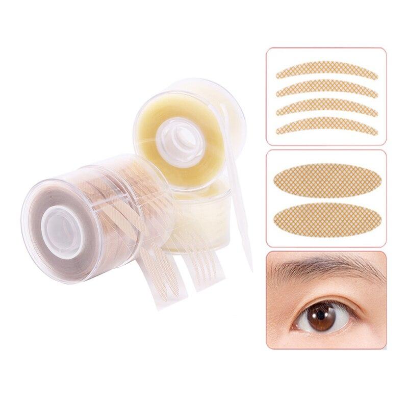 600pcs S/L Invisible Makeup Eyelid Stripe Big Eyes Decoration Strong Adhesive Eyelid Sticker Double Fold Eyelid Tape Clear Beige
