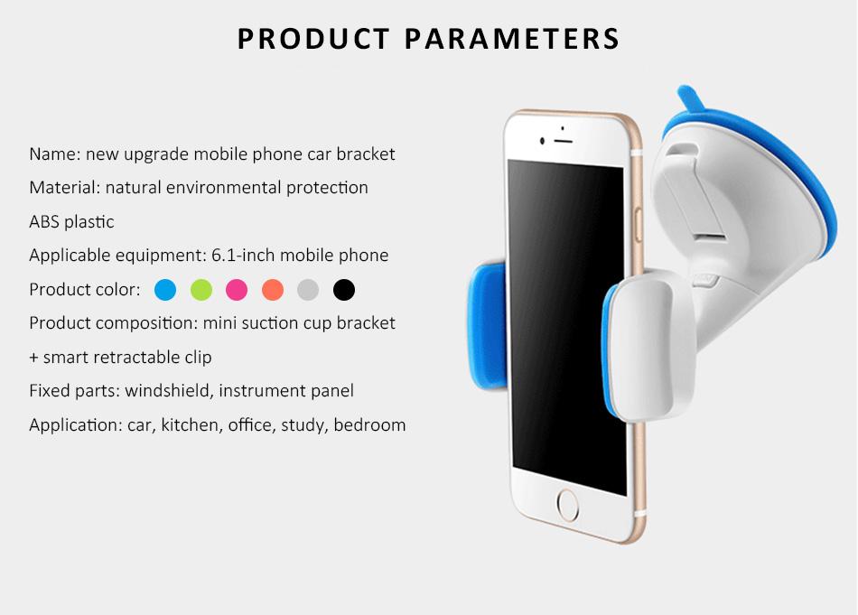 ESVNE Uniwersalny Telefon Samochodowy uchwyt szyby zamontować uchwyt na telefon komórkowy stojak uchwyt Samochodowy uchwyt na telefon Komórkowy Smartfon Telefon 3