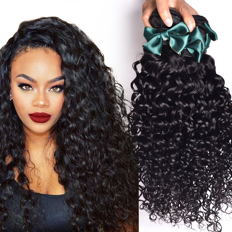 Brazilian Virgin Hair Water Wave 4 Bundles Brazilian Curly