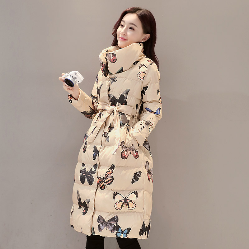 Veste beige De Hiver Bas Coton Épaissir 2018 Chaud Grande Qualité Vestes Femme Long Vers Taille Manteau Haute Femmes rembourré Le Black pZgwSq