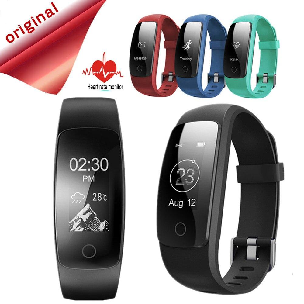 edd0bd2f11c1 Smarcent GPS banda inteligente ID107 más ID107 HR Fitness pulsera Bluetooth  actividad Deportes pulsera con monitor de ritmo cardíaco en Pulseras ...