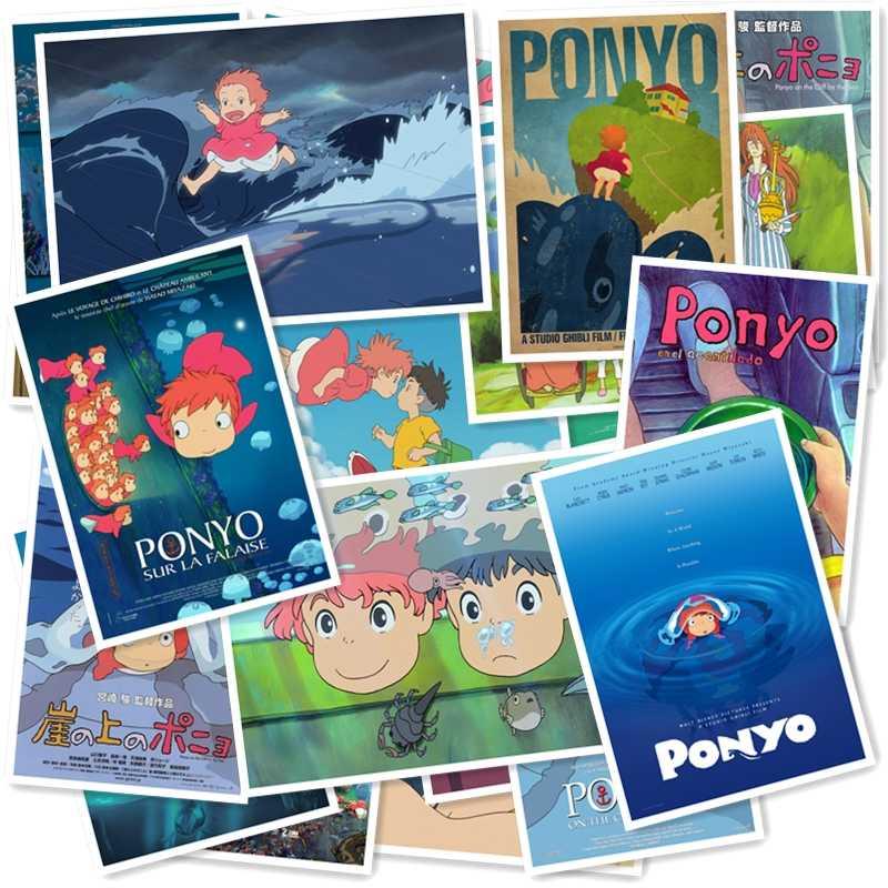 A1-60 # ponyo no penhasco 20/pçs série etiqueta decoração da sua casa geladeira estilo mala de viagem graffiti estilo adesivos à prova dwaterproof água