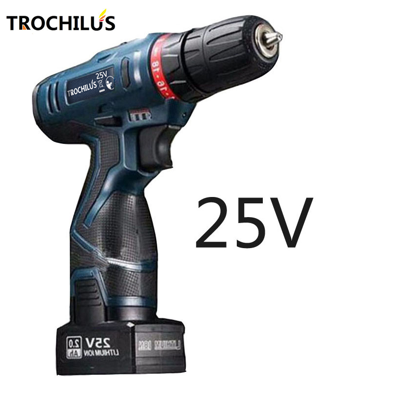 25V cordless  drill Multi-function electric tool Electric screwdriver with lithium battery Rechargeable miniature electric drill 25v cordless electric screwdriver