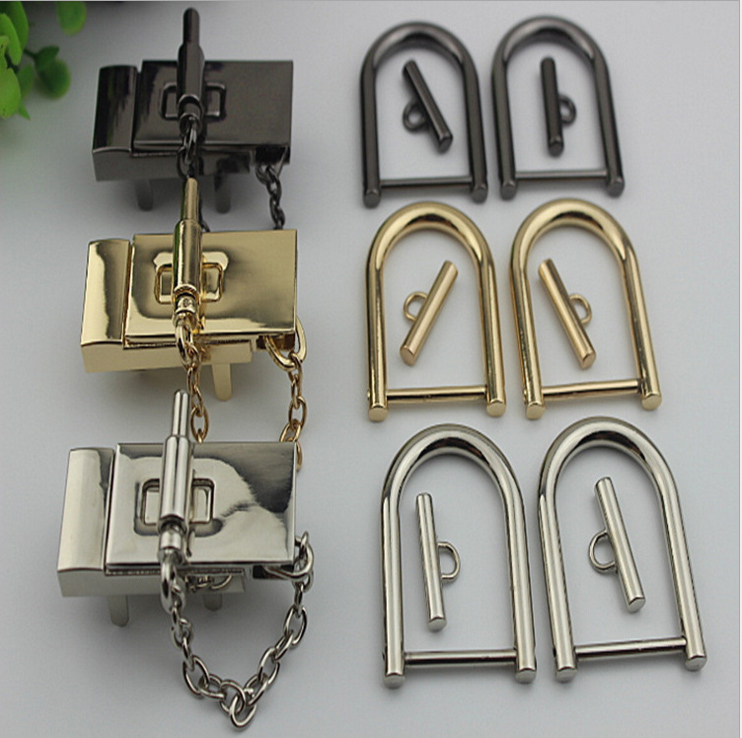 Liberal 6 Pcs/ Lot Full Set Of Pig Handbags Mortise Lock Hardware Lock Handbags Hardware Accessories Metal Twist Lock Switch Lock Inser