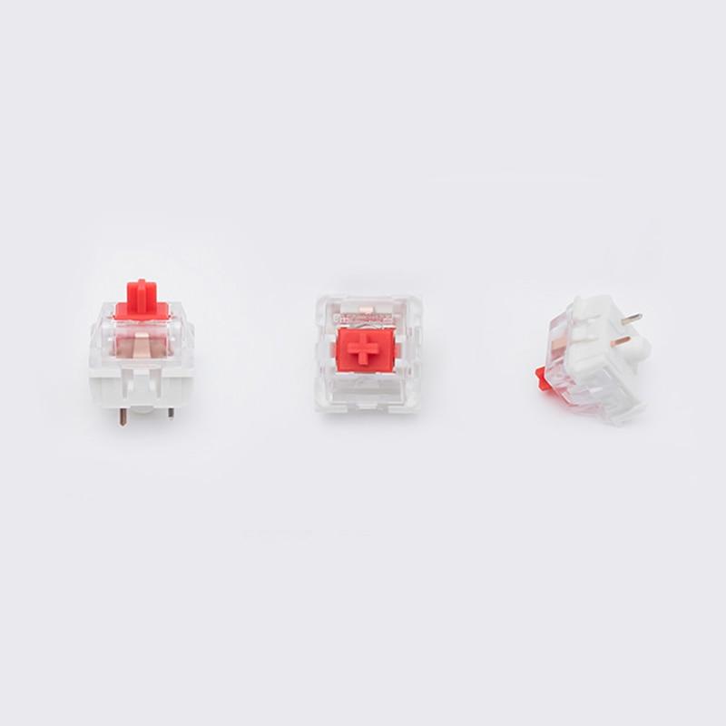 1 Piezas Teclado Caja De Interruptores Rojo Rgb Smd Interruptores A Prueba De Interruptor De Teclado Mecánico Del Juego De Impermeable Rojo Interruptor