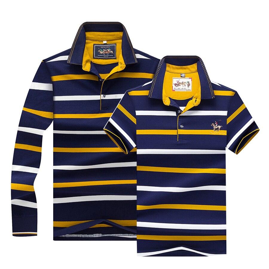Tace & Shark   Polo   shirt men long sleeve casual striped tee shirt homme camisa masculina Summer 2019 business   polo   shirts homme