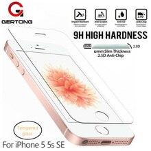 GerTong Koruyucu Temperli Cam Için iphone 4 S 4 5 5 S SE 6 6 s Artı 7 Artı Cam için iphone 8 X XR XS MAX Ekran Koruyucu Cam