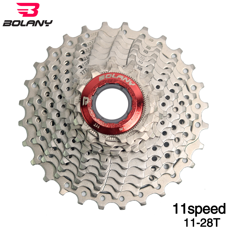BOLANY 11 Speed 11-28T Road Bike Freewheel Cassette Cogs Silver For SHIMANO SRAM