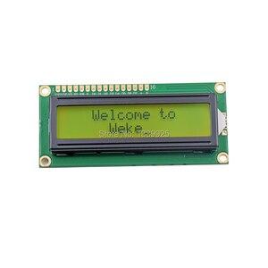 Image 2 - Бесплатная доставка 10 шт./лот Новый ЖК дисплей 1602 LCD1602 5 в 16x2 Персонаж ЖК дисплей модуль контроллера желтый черный свет
