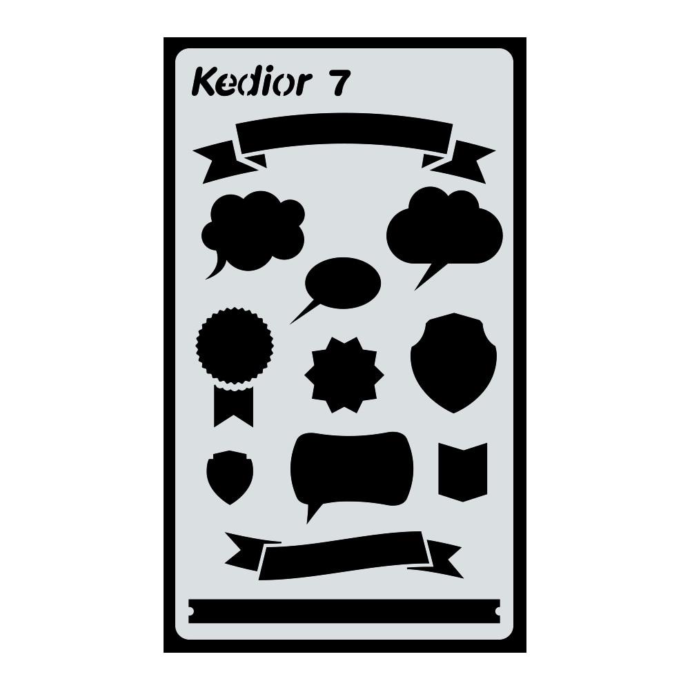 Bullet Journal Accessories,1 Piece Plastic Planner Stencil DIY Drawing Art Supplies for Journal,Notebook,Diary,Scrapbook #7