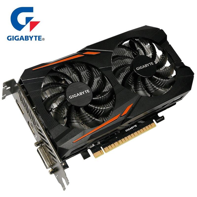 Gigabyte NVIDIA GeForce GTX 1050 Ti OC 4G 128bit Placa Gráfica Integrada com 4 GB GDDR5 Suporte de Memória de até para exibição 60 8 K Hz