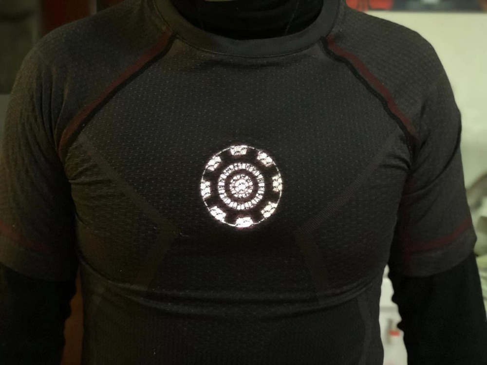 Free Shipping Iron Man ARC Reactor Wearable Chest Light With Javis Speaking Iron Man Cosplay Marvel Collectible Toy