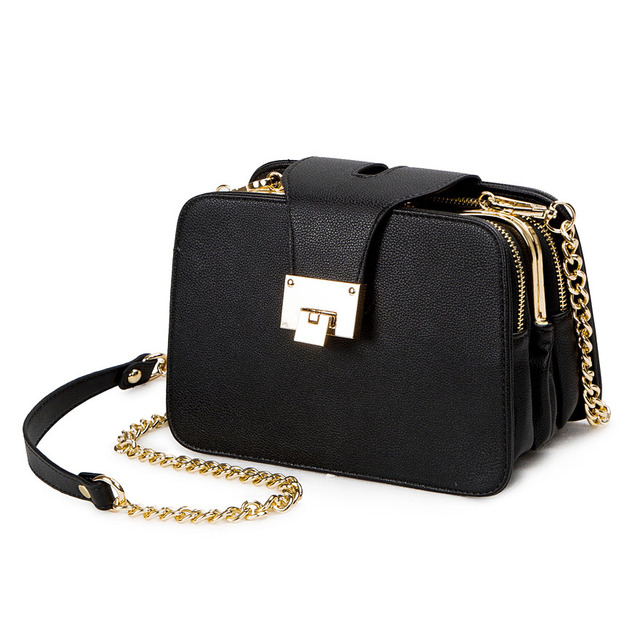 SWDF Spring New Fashion Women Shoulder Bag Chain Strap Flap Designer Handbags Clutch Bag Ladies Messenger Bags With Metal Buckle