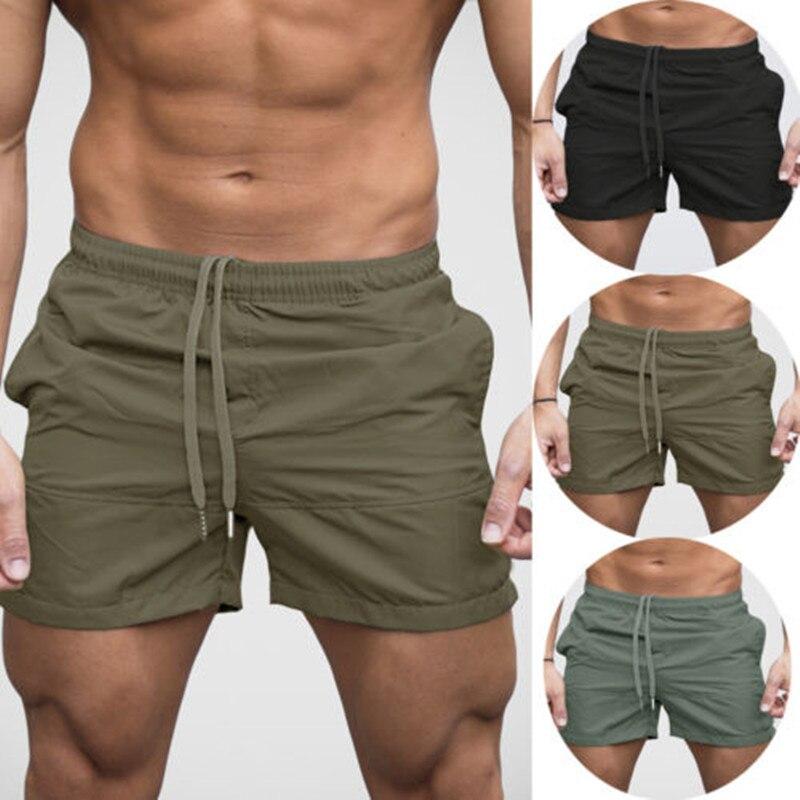 2018 neue Mode männer Shorts Feste Elastische Taille Fitness Bodybuilding Jogger Fitness-Studios Casual Shorts Jogginghose Bermuda Masculina